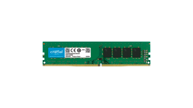 Crucial DRAM 16GB DDR4 3200 MT/s (PC4-25600) CL22 DR x8 Unbuffered DIMM 288pin, EAN: 649528790101