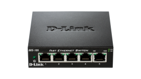 Комутатор  D-Link DES-105/E  5-Port  10/100 Fast Ethernet Metal Housing Unmanaged DES-105/E