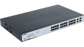 24-Port Desktop Gigabit PoE + 2GE Combo Switch