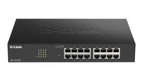 Суич D-Link DGS-1100-16V2, 16 портов 10/100/1000 Gigabit Smart Switch, управляем,
