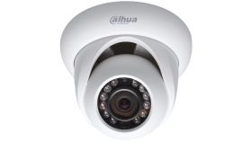 "Dahua IP camera 1MP, Eyeball, H.264+, 1/4"" CMOS, 1280?720 Effective Pixels, 25/30fps@720P, Focal Length 2.8mm, Max IR LEDs length 30m, 0.5Lux/F2.5, 0Lux IR on, IP67, DC12V PoE, 4.9W, Outdoor installation."