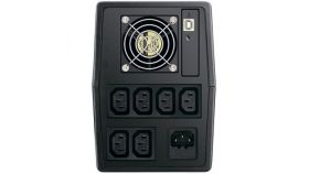 VX Series, Line-interactive, 1000VA / 600W, 170-280 VAC, 50/60 Hz (Auto sensing), 12V/7AH x2, LCD Display, 1xUSB,
