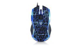 Input Devices - Mouse DELUX DLM-M556BU 5D Gaming  2400 dpi ,USB, Black/Blue