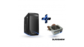 Кутия за настолен компютър Delux G-505 + захранване Delux DLP21D45W