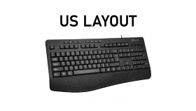 Безжична мултимедийна клавиатура Delux K6060G US Layout
