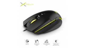 Геймърска мишка Delux M522BU SPCP-6653B