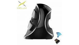 Безжична вертикална оптична мишка Delux M618 Plus