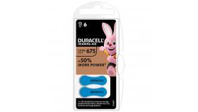 Батерия цинково въздушна DURACELL ZA675 6 бр. бутонни за слухов апарат в блистер