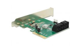 Контролер Delock SATA PCI Express Card - 4 ports