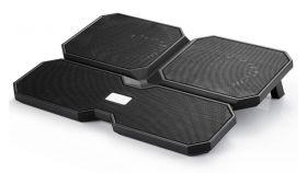 "Охладител за лаптоп DeepCool Multi Core X6, 15.6"", 2x140+100 mm, Черен"