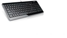 Ultra Slim Keyboard DELUX K1500 USB 2.0, Bulgarian, Multimedia Function, Black, Retail