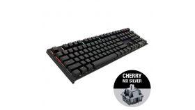 Геймърскa механична клавиатура Ducky One 2 RGB, Cherry MX Silver