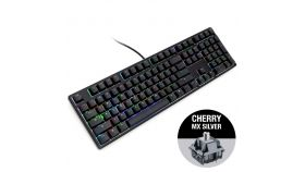 Геймърскa механична клавиатура Ducky One Black RGB, Cherry MX Silver