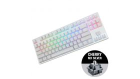 Геймърскa механична клавиатура Ducky One White TKL RGB