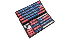 Капачки за механична клавиатура Ducky Pudding Blue & Red 108-Keycap Set PBT Double-Shot US Layout