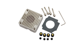 EK-DDC Heatsink Housing - Nickel, heatsink upgrade kit