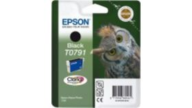 EPSON T0791 ink cartridge black standard capacity 11ml 1-pack blister without alarm