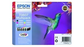 MULTIPACK EPSON Six-pack Ink Cartridges for Stylus Photo R265/285/360,RX560,PX700W,PX800FW/RX585, P50