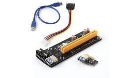 Конвертор Estillo Riser Card 6 Pin, PCI-Е x 1 към PCI-Е x16, USB 3.0