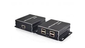 USB Extender (усилвател) ESTILLO ASKHU04-USB 1x4, усилва USB сигнал до 100 м по UTP кабел CAT5e/6