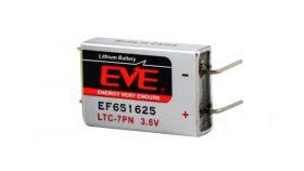 Литиево тионилхлоридна  батерия LTC-7PN  EP651625 industrial 3,6V  750mAh EVE BATTERY