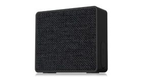 "Multimedia Bluetooth Speakers F&D W5 - Power output 3W, 1.5"" inch driver and passive radiator, Bluetooth 4.0, 360 degree sound field, changeable colorful cover, micro SD card, 3.5mm Aux input, Li-ion battery 1000mA, Black"