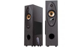Multimedia - Speaker F&D T-35X, 2.0 Floor Standing Speaker, 80W(40Wx2)RMS, BT 5.0,Optical,USB,FM,AUX, Bright LED display, karaoke function, remote control, microphone included