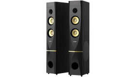 """Multimedia Speakers F&D T-88X, 300W, 2pcs 10"""" subwoofer, OPTICAL, Bluetooth 4.0, AUX, USB, Remote Control, LED screen display, support 2way microphone input and wireless microphone"""