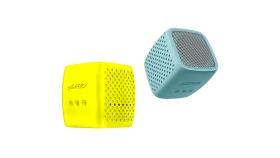 "Multimedia Bluetooth Speakers F&D W4 - Power output 3W, 1.5"" inch driver and passive radiator, Bluetooth 4.0, 360 degree sound field, changable colorful cover, (micro SD card, 3.5mm Aux input, Li-ion battery 1000mA, Yellow/Mint"
