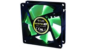 GELID WING 8 PL Green 80x80x25 2000RPM Green LED