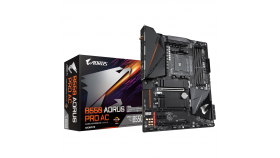 Дънна платка GIGABYTE B550 AORUS PRO AC, WI-FI, Socket AM4, 4 x DDR4, RGB Fusion 2.0