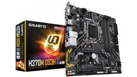 Дънна платка GIGABYTE H370M DS3H, Socket 1151 (300 Series), 4 x DDR4