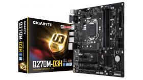 Дънна платка GIGABYTE Q270M-D3H, socket 1151, 4 x DDR4, rev. 1.0