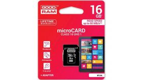 GOODRAM 16GB MICRO CARD class 10 UHS I + adapter
