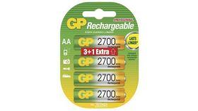Акумулаторна Батерия GP  R6 AA 2700mAh NiMH 4 бр. 270AAHC-UC-3+1 GP