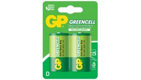 Цинк карбонова батерия R20 Greencell 13G-U2 /2 бр. в опаковка/ blister 1.5V GP