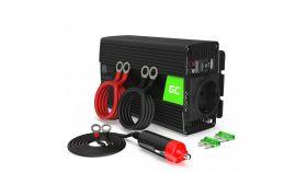 Инвертор 12/220 V  DC/AC 500W/1000W, Модифицирана синусоида, GREEN CELL