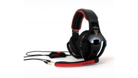 Жични Gaming Слушалки, Gamdias, EROS GHS2200, Black/Red, 3.5mm v1.1
