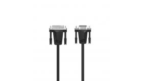 Кабел HAMA 200714, DVI мъжко - VGA мъжко, 1.5 м, Екраниран, 1080p, Черен