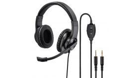 Слушалки с микрофон HAMA HS-P300, стерео, 2 x 3.5мм жак, Черен