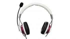 Слушалки с микрофон HAMA Style, USB, Бял/Бордо