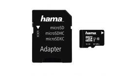 Карта памет HAMA microSDHC UHS-I, 16GB, 80 MB/s, Class10, SD адаптер