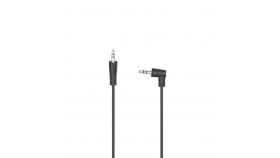 Аудио кабел HAMA 3.5мм стерео жак мъжко - 3.5мм стерео жак мъжко извит на 90°, 1,5м.