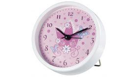 Стенен часовник Hama Crown, Детски, Аларма, Розово/Бяло