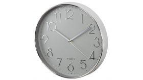 Стенен часовник Hama Elegance, ? 30 cm, Тих Сребрист/Сив