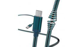 Кабел за зареждане и данни HAMA Metal, USB - Micro-USB, 1.5 м., син