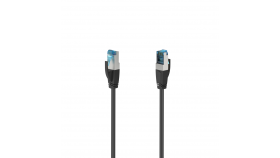 Мрежов пач кабел HAMA S/FTP, CAT 6a, RJ-45 - RJ-45, 10Gbit/s, 3.0 m, Черен