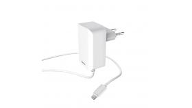 Зарядно HAMA 220V Lightning за Apple iPhone/iPad, 5 V/2.4 A, бял