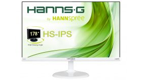 Монитор HANNSPREE HS 246 HFW, LED, 23.6 inch, Wide, Full HD, VGA, HDMI, Бял