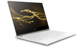 """HP Spectre 13-af000nn Ceramic White, Core i5-8250U(1.6Ghz, up to 3.4GH/6MB/4C), 13.3"""" FHD IPS BV Touch, 8GB LPDDR3 2133Mhz on-board, 256GB PCIe SSD, WiFi a/c + BT 4.2, backlit kbd, 4-Cell Batt, Win 10 Home 64bit + HP Case + Adapter USB-C to USB 3.0"""